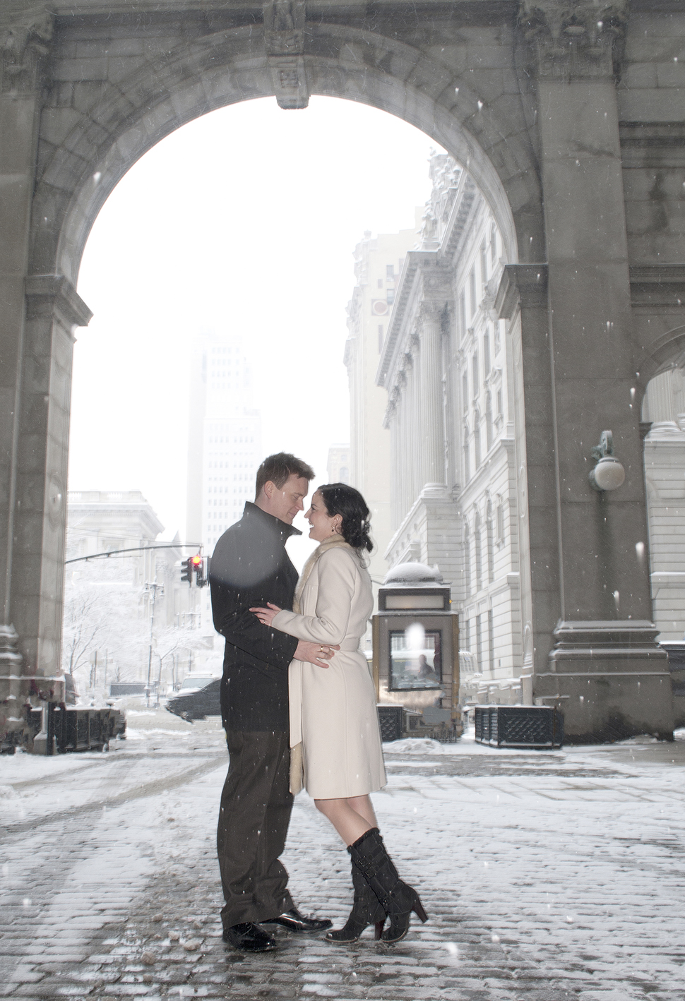 City Hall Couple elopes from London for winter wedding