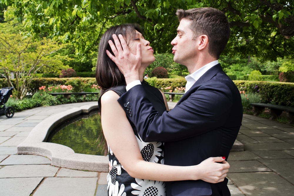 Conservatory Gardens Engagement Session shot in NYC