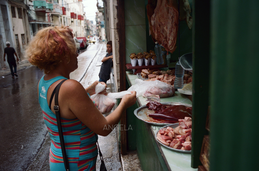 Shooting Real Film, Butcher, Havana Cuba