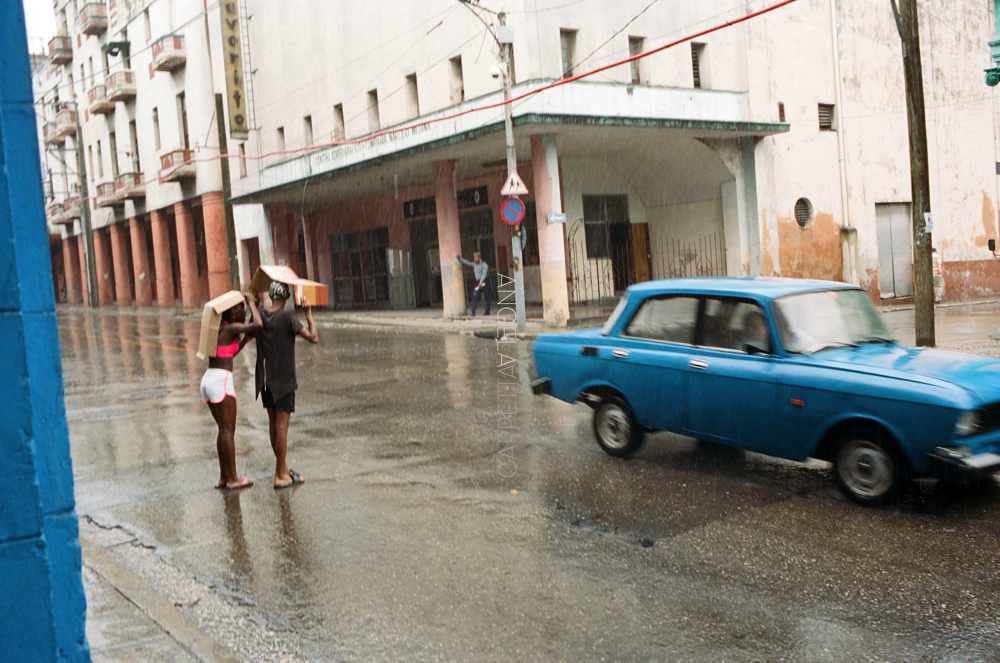 Shooting Real Film, Rain in Havana, Havana Cuba