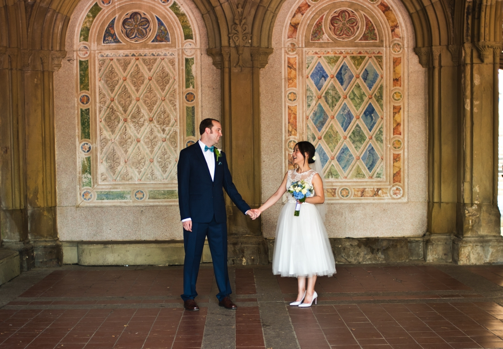 Central Park Elopement Photography Bethesda Terrace