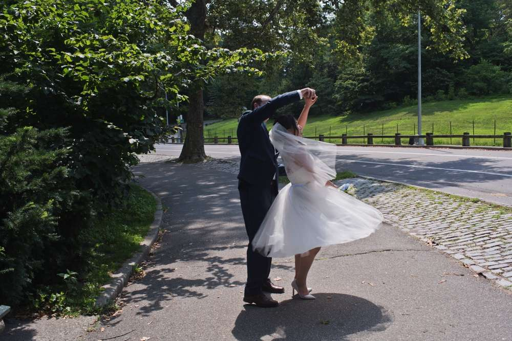 Central Park Elopement Photography Formal Dancing in the Park