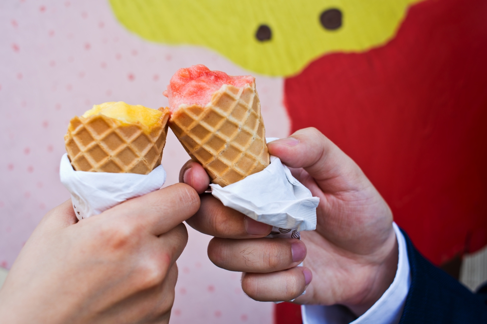 Central Park Elopement Photography Ice Cream