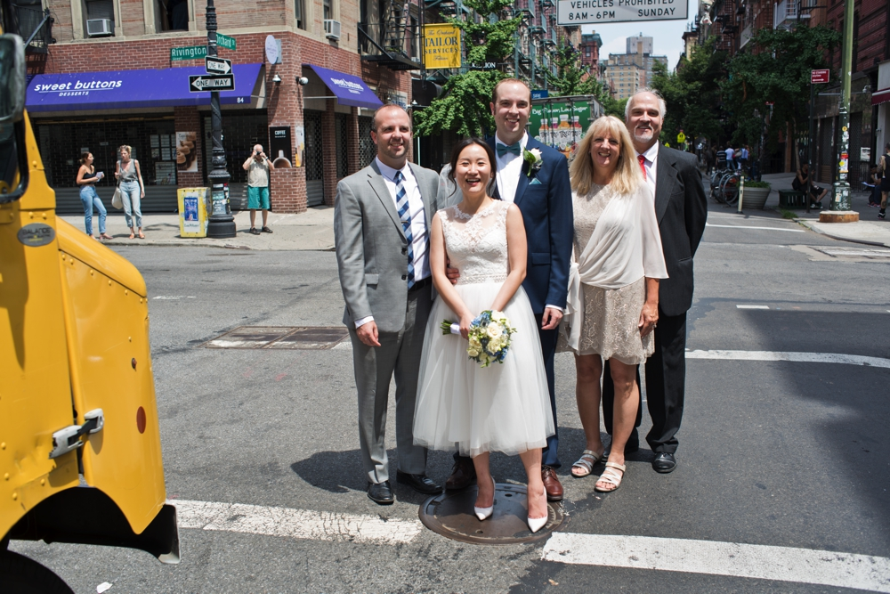 Central Park Elopement Photography Formals on Lower East Side