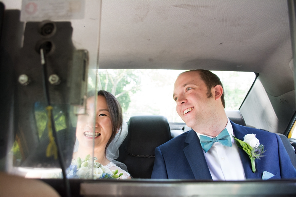 Central Park Elopement Photography Taxi Ride