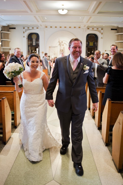 Westchester Country Club Wedding Church Ceremony Exit