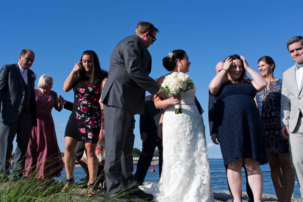 Westchester Country Club Wedding Formals near the Bay