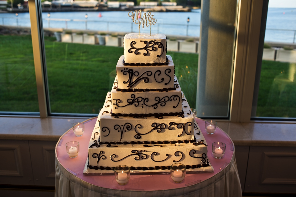 Westchester Country Club Wedding 5 tiered cake