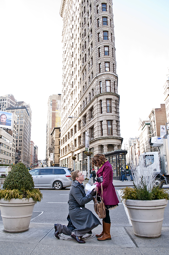 Flatiron Proposal Photography