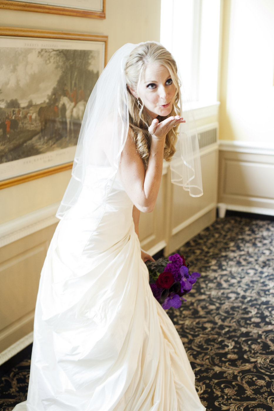 Bride Blowing Kiss