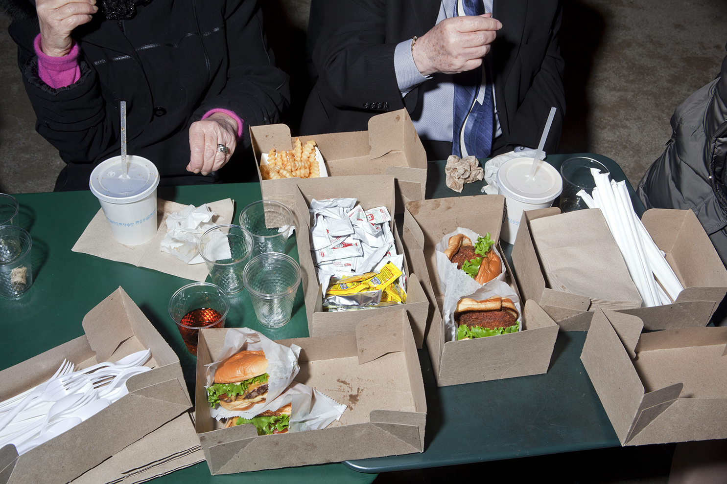 eat and drink at Shake Shack on 12/12/12