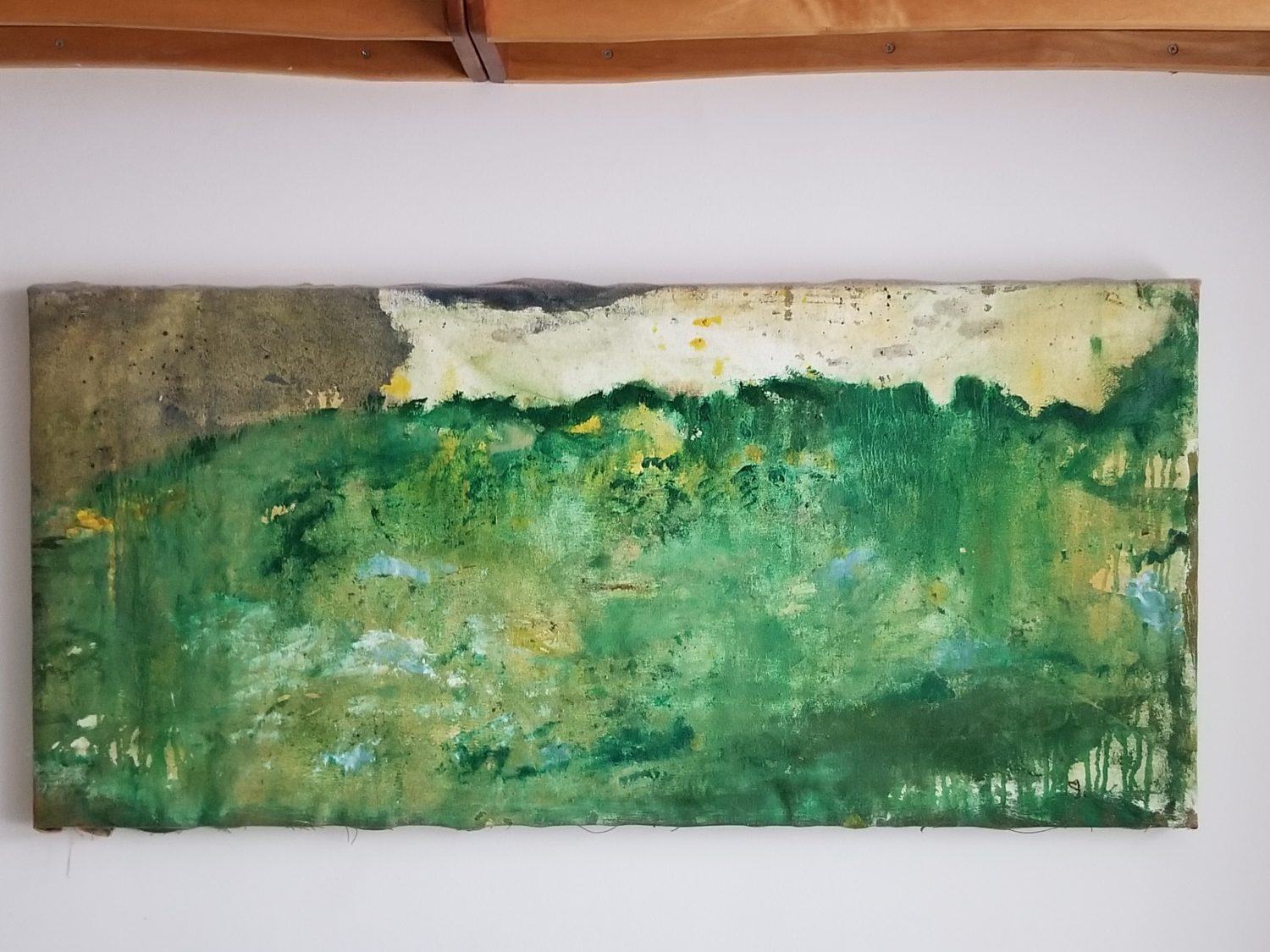 Long landscape oil painting on canvas by Jessie Mann