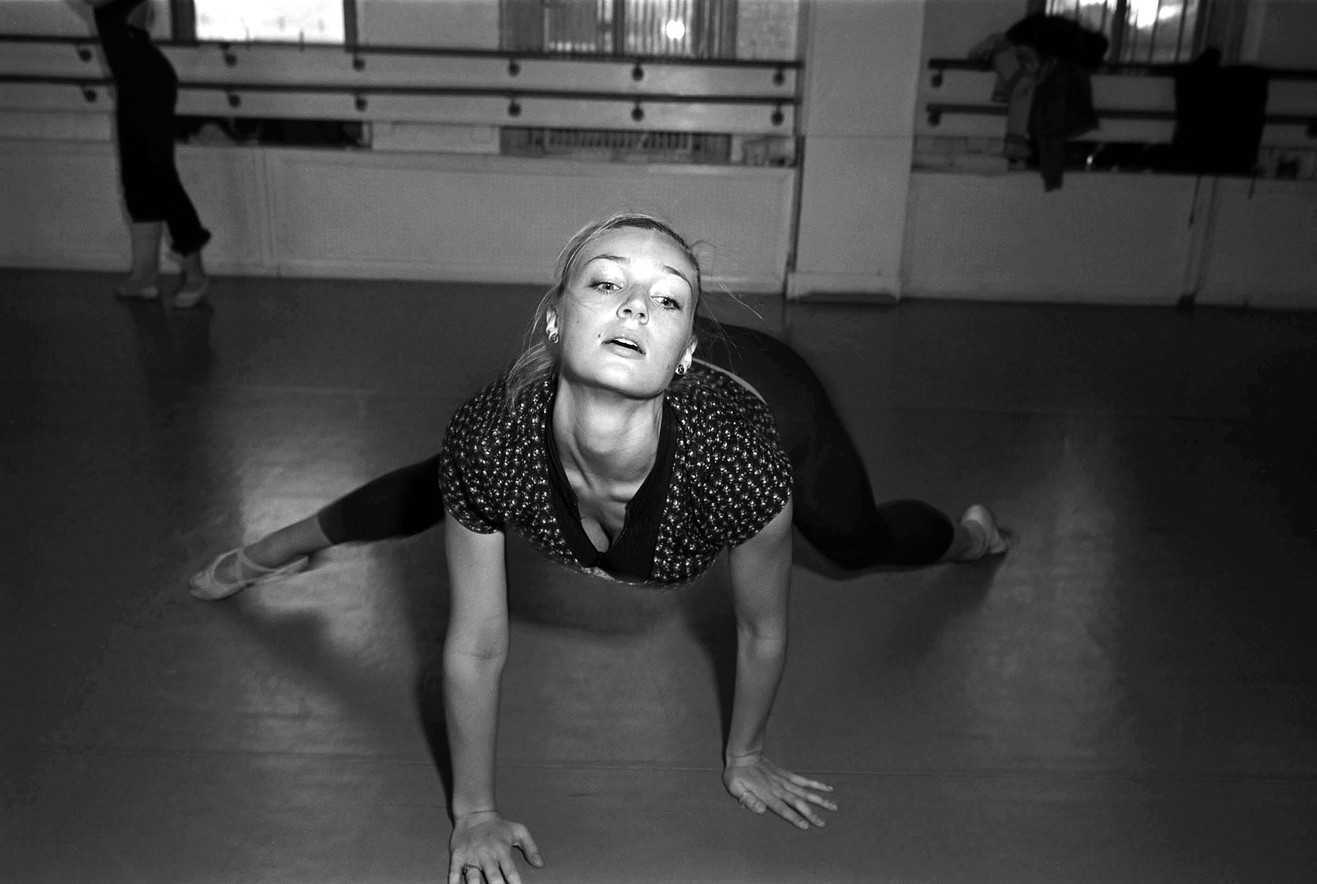 Joffrey ballet dancer in training NYC shot in real film.