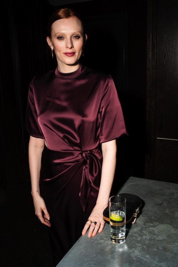 Karen Elson at Model Alliance Anniversary Party shot by NYC fashion week photographer Angela Cappetta