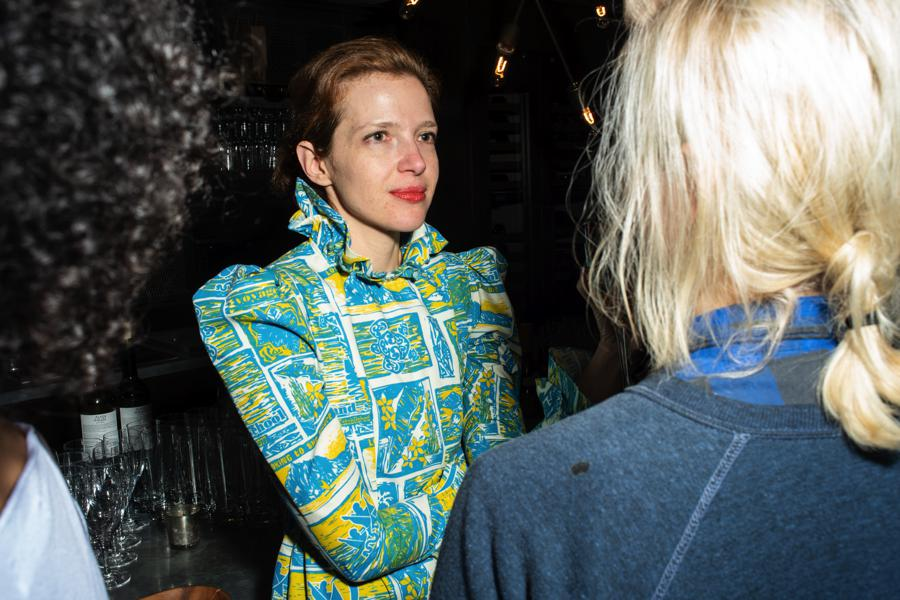 NYFW photography. Dress designer Batsheva shot at NYFW party by fashion photographer Angela Cappetta with DSLR on location in NYC.