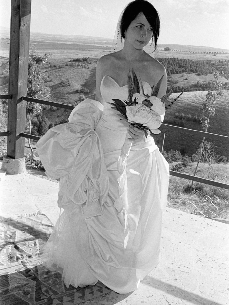 Bride shot in the Turkish countryside by destination wedding photographer Angela Cappetta with real film.