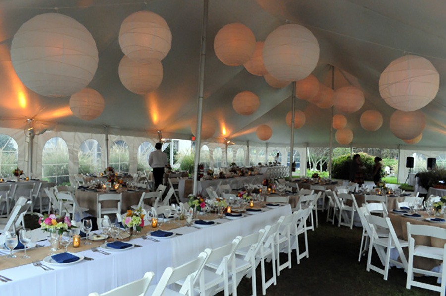 Tented wedding reception inMontauk shot by Angela Cappetta NYC Wedding Photographer